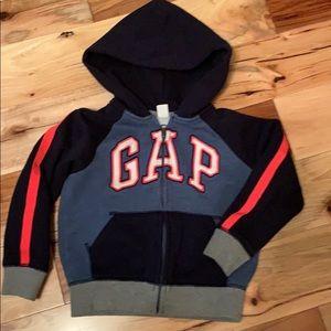 Boys hoodie zip front jacket